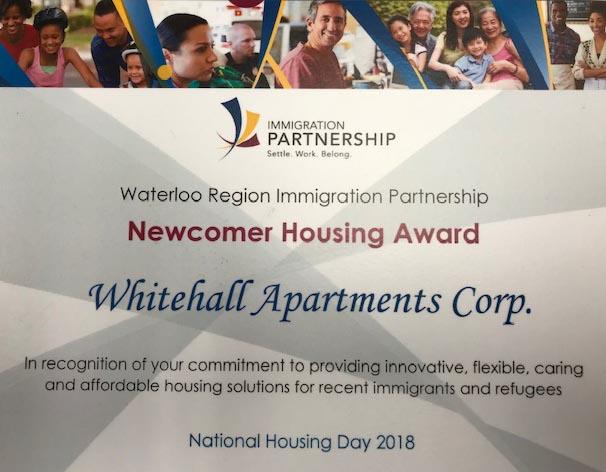 Newcomer Housing Award 2018